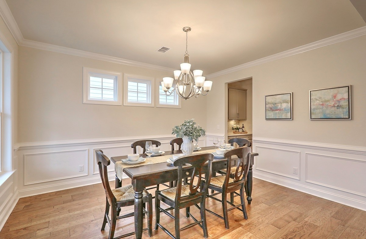 White Oak quick move-in  formal dining room