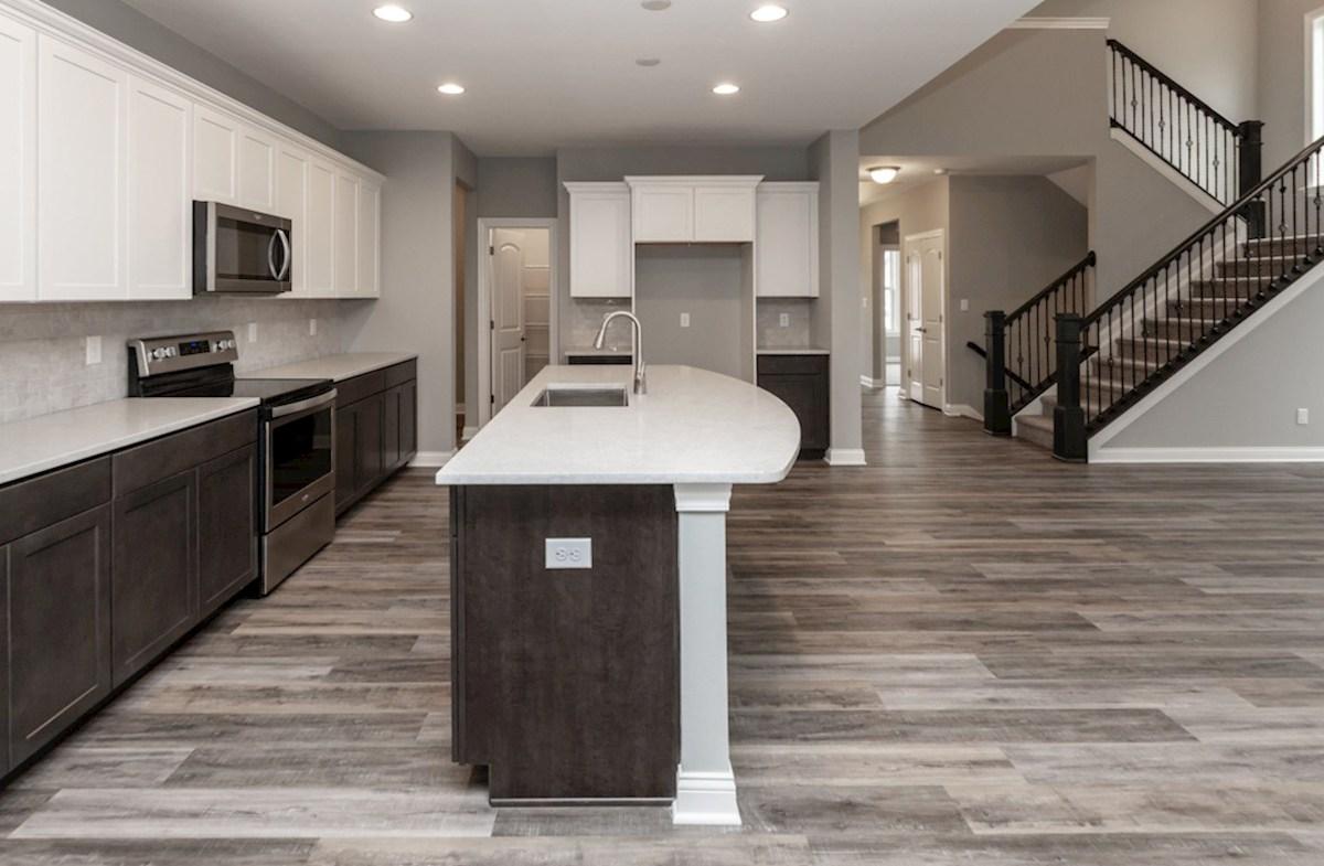 Charleston quick move-in kitchen with spacioius island and white countertops