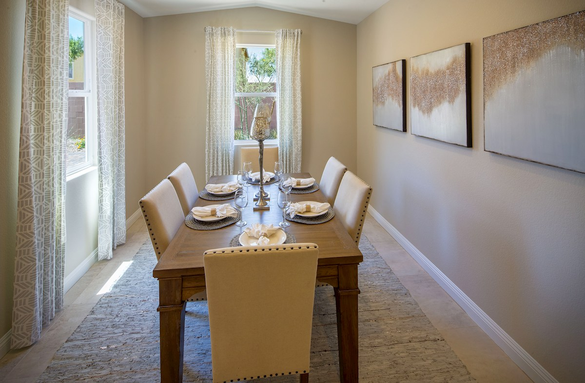 formal dining room in the Summit plan