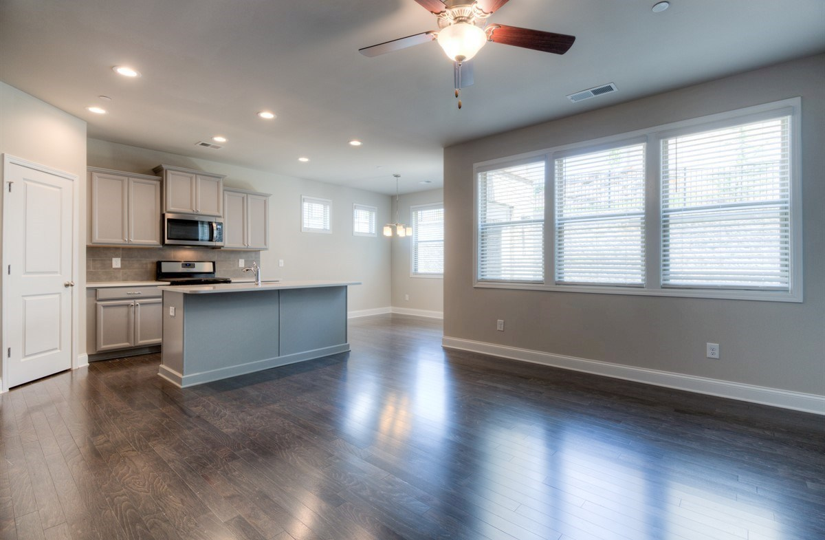 Spring Creek Place Georgetown Great Room with hardwood floors