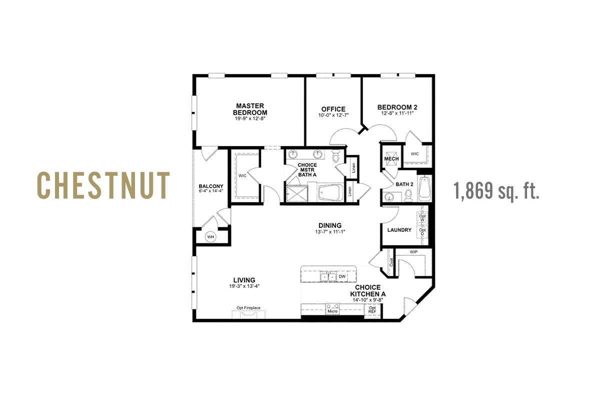 chestnut plan with study and walk-in laundry room