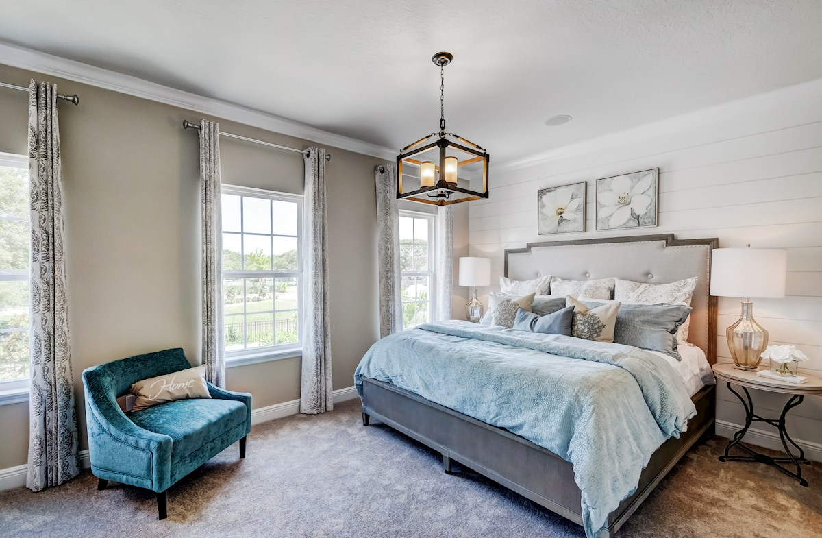 soft toned master bedroom