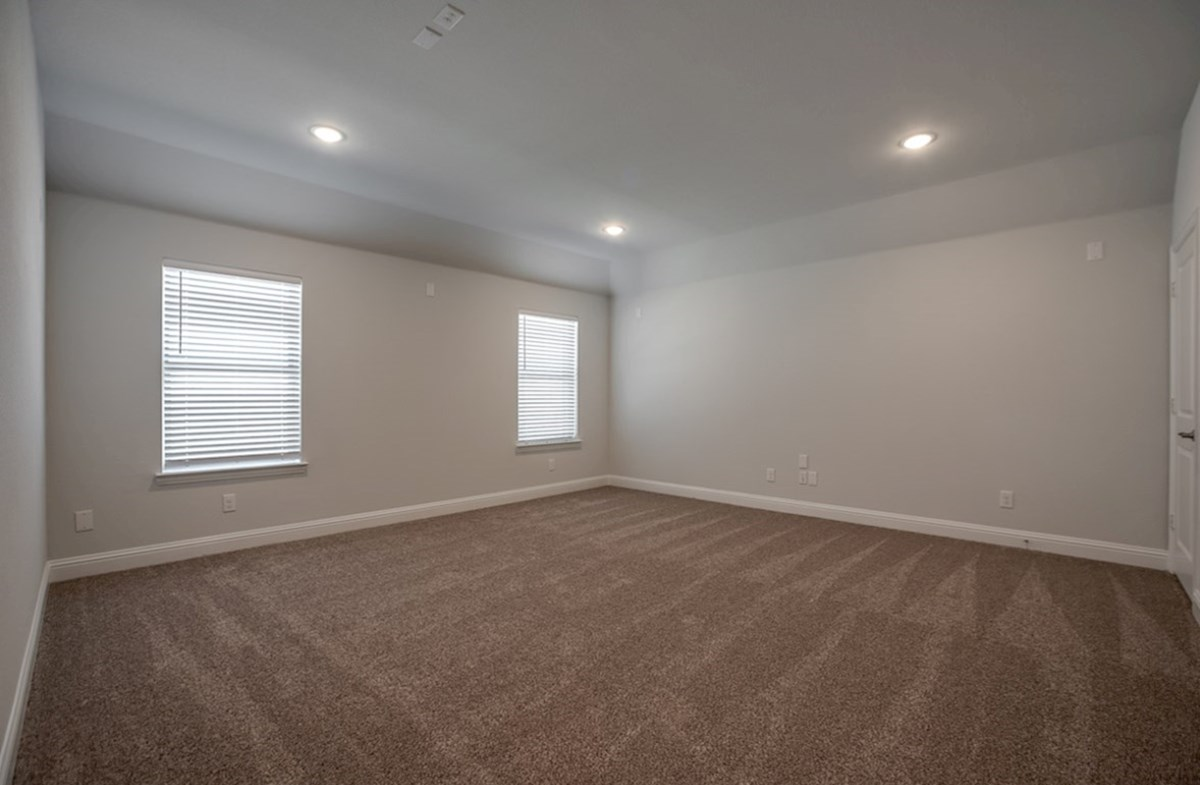 Hamilton quick move-in large media room with carpet