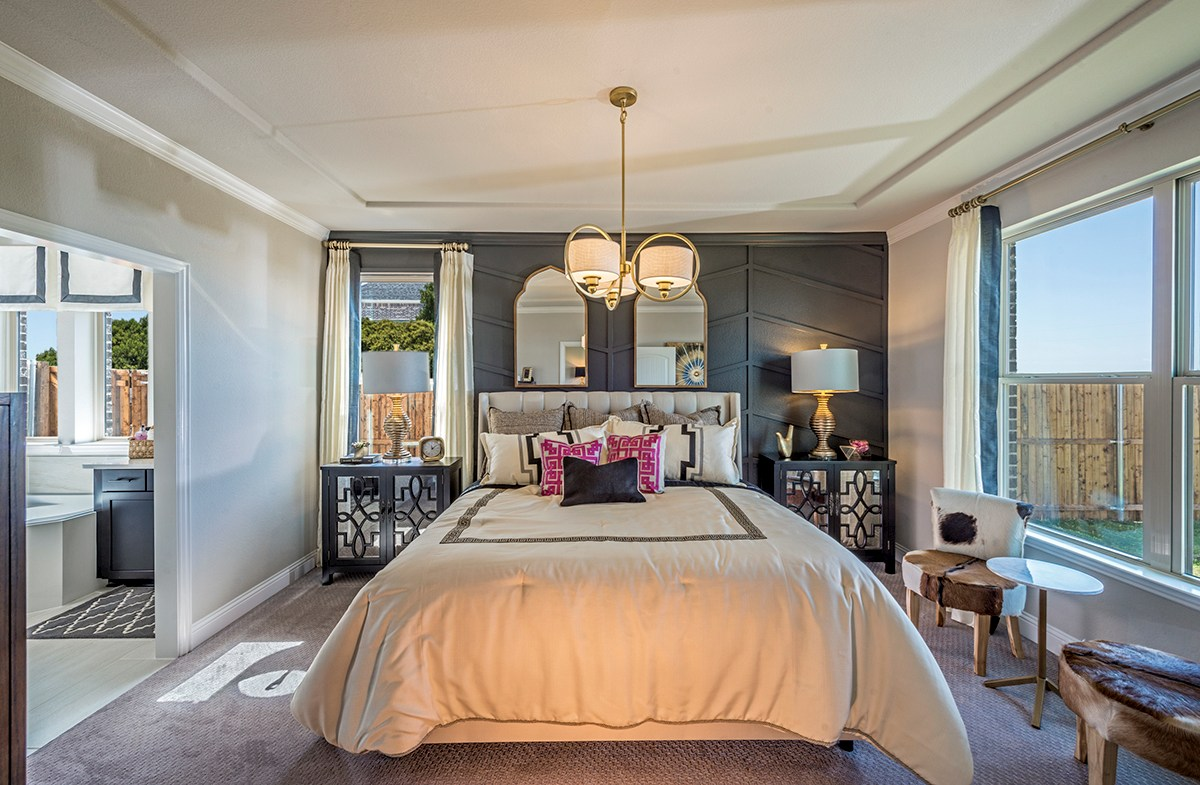 Aberdeen master bedroom with tray ceiling