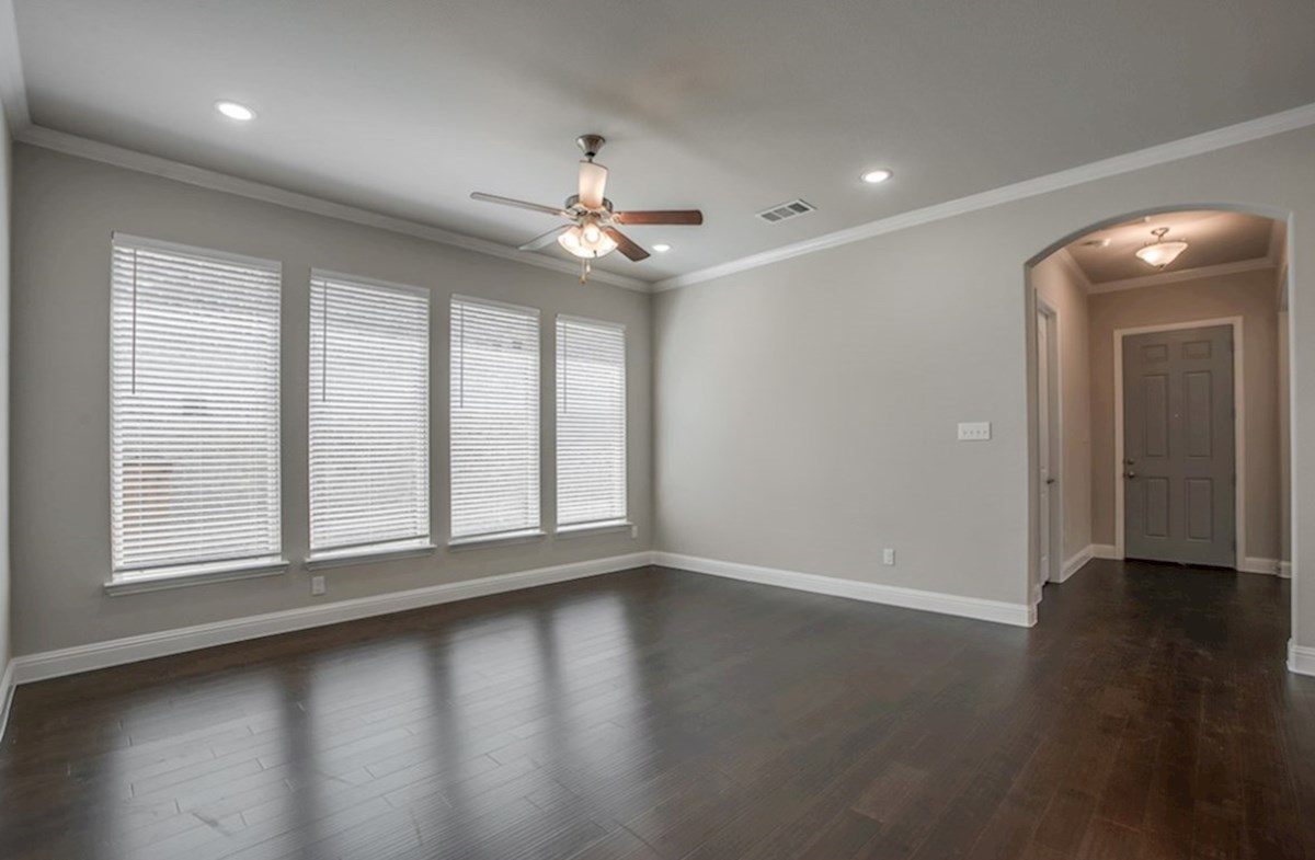 Eastland quick move-in open great room with wood floors