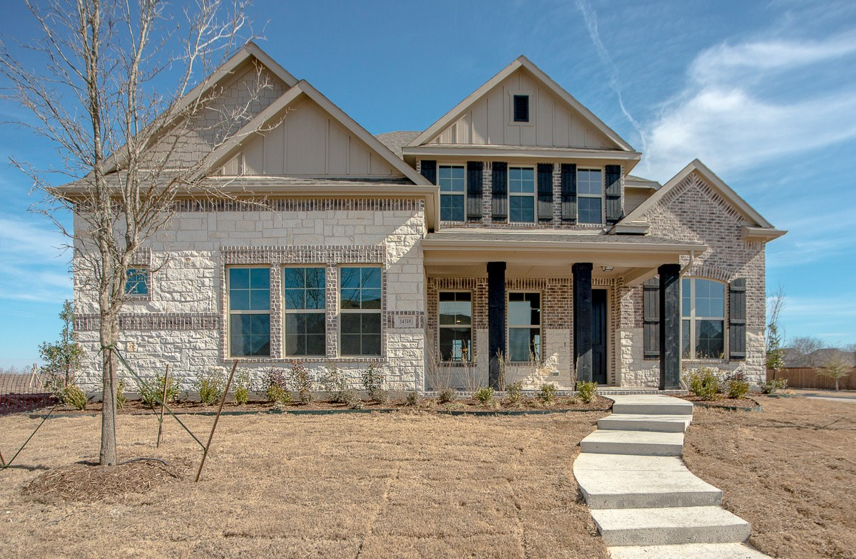 Madison TRO quick move-in Madison elevation features stone