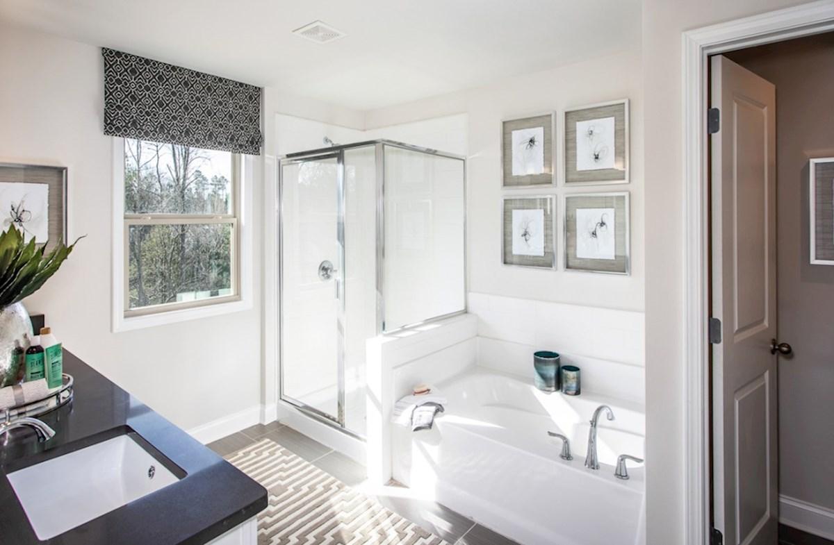 Spring Creek Place Lexington Master bathroom with soaker tub