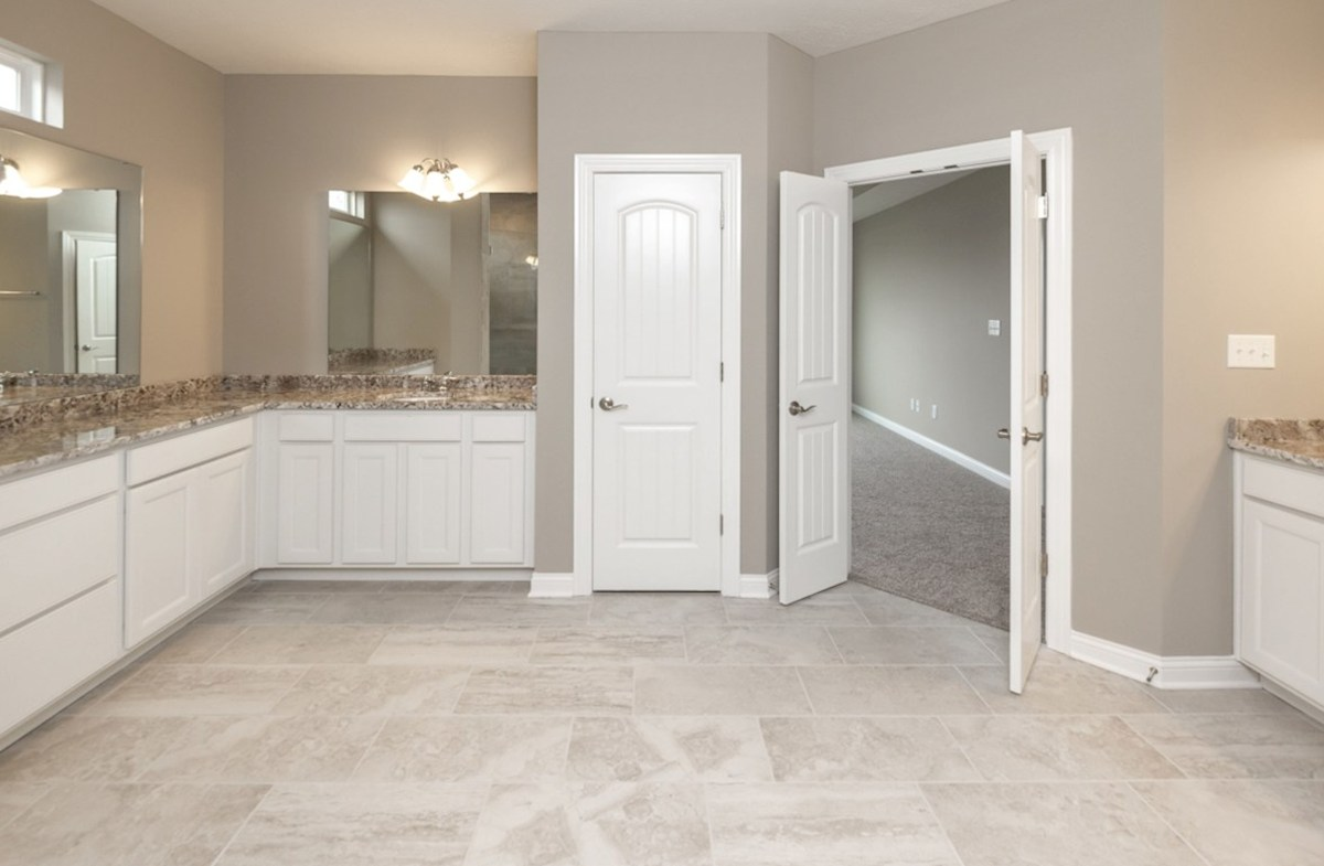 Cambridge quick move-in Spacious master bath with dual vanities