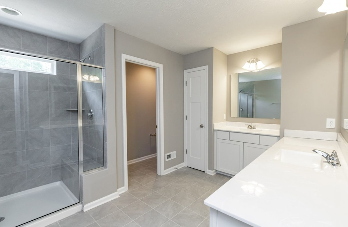 Shelby quick move-in master bath with walk in shower