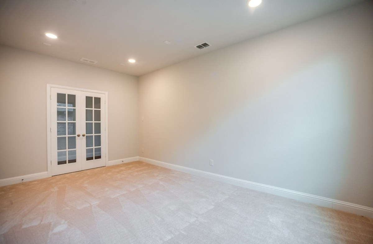 Blakely quick move-in study with French doors and carpet