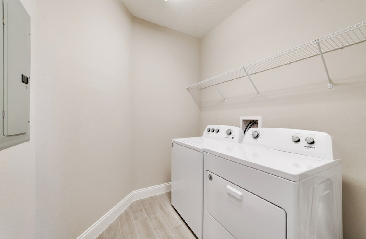 Chestnut quick move-in laundry room