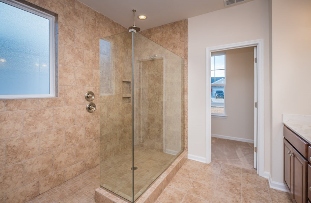 sports shower in master bathroom