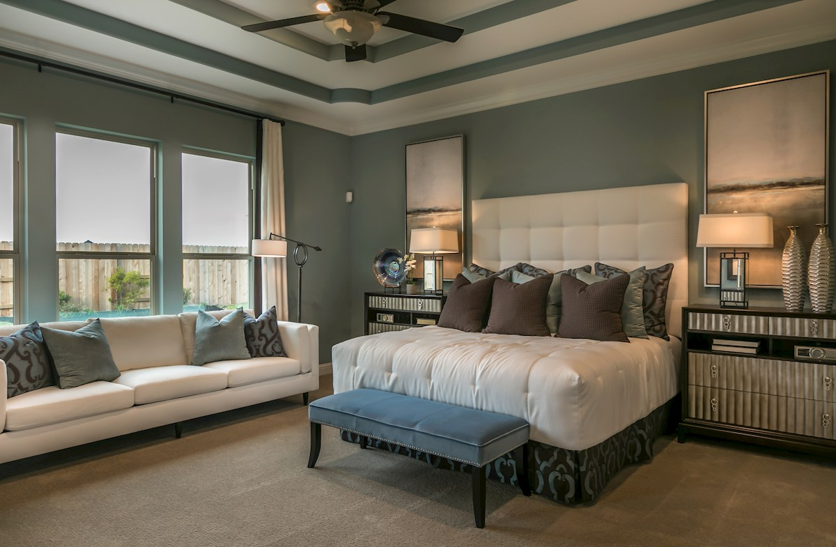 Young Ranch Hartsfield relaxing master bedroom