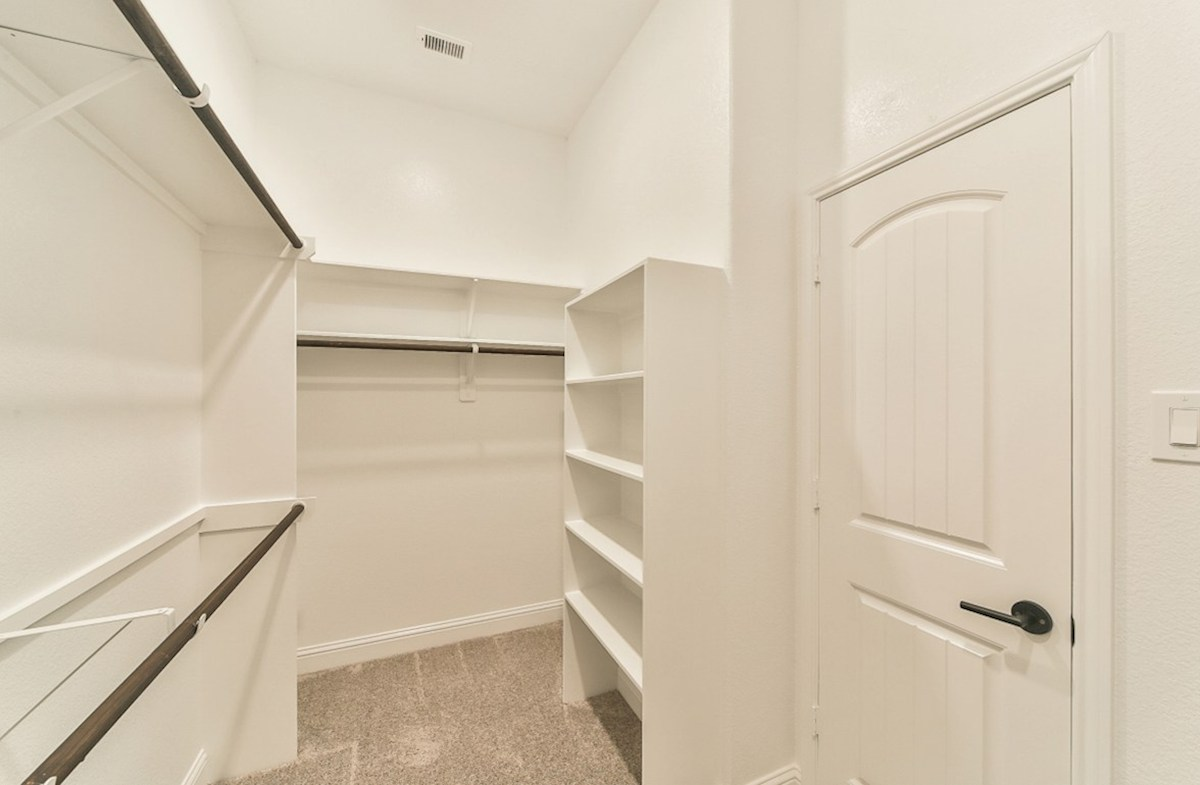 Serendipity quick move-in master closet with built-in shelves