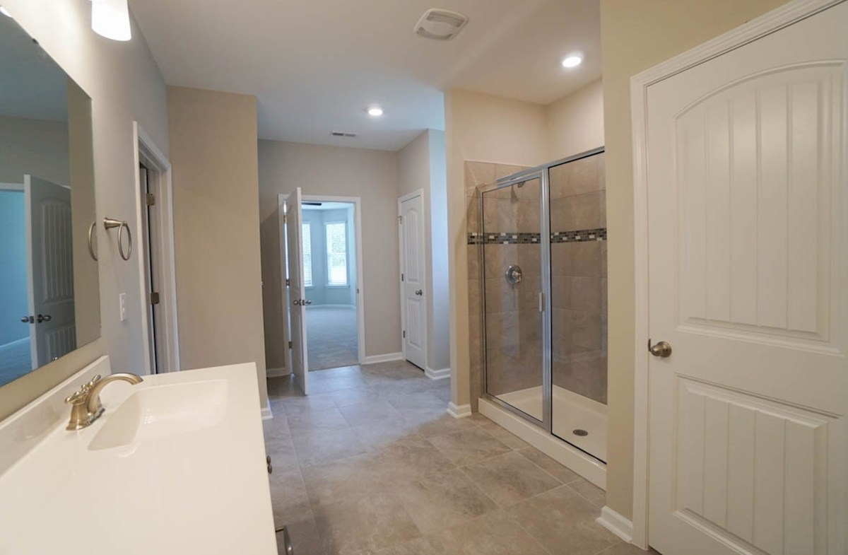 Savannah quick move-in master bathroom features features walk-in shower