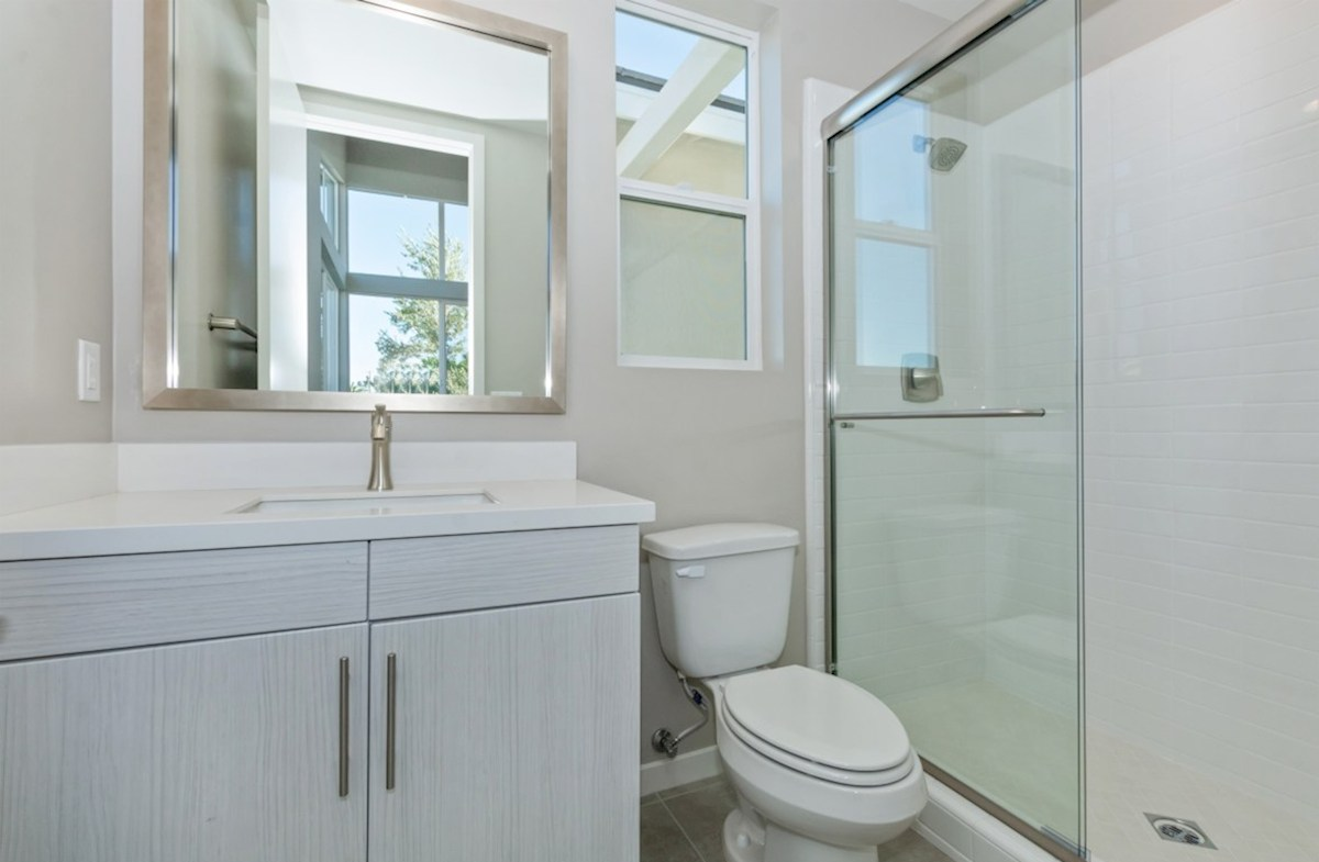 Residence 3 quick move-in designer style upgrades in secondary bathroom