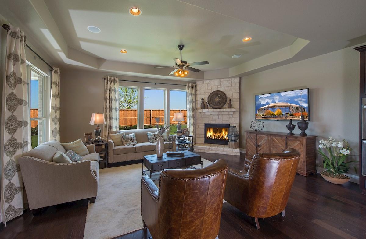 Kenwood elegant stone fireplace
