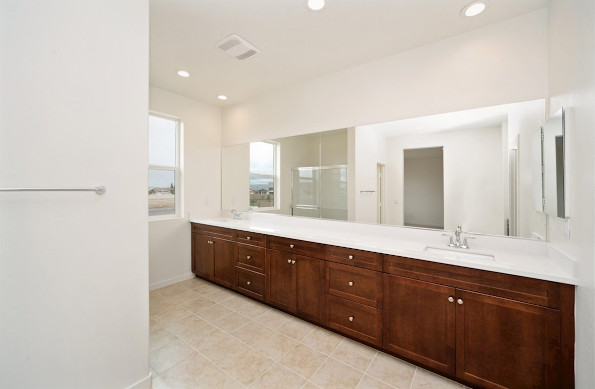 Sonoma quick move-in Separate vanities give you more space and privacy