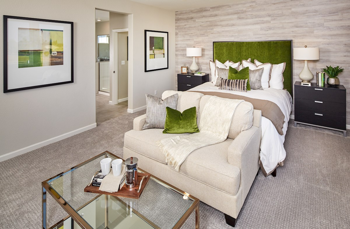 Cozy Trinity master suite