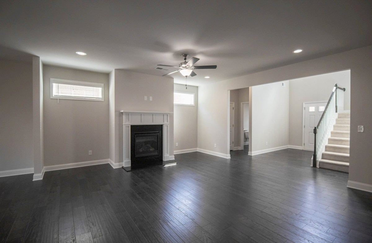 Milford Point Kensington Family Room with fireplace