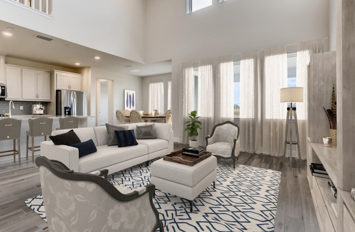 Reserve at Citrus Park Estero Open concept first floor with 2-story great room