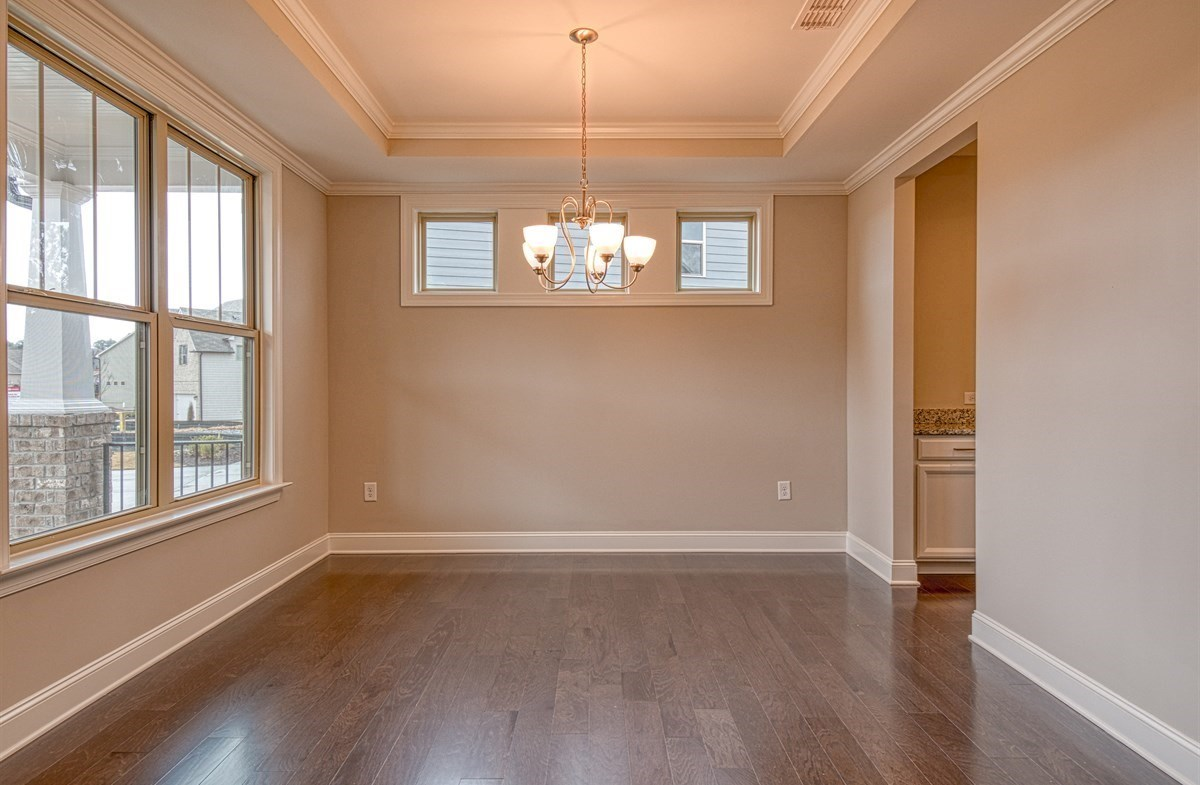 Chandler quick move-in Dining room with tray ceiling