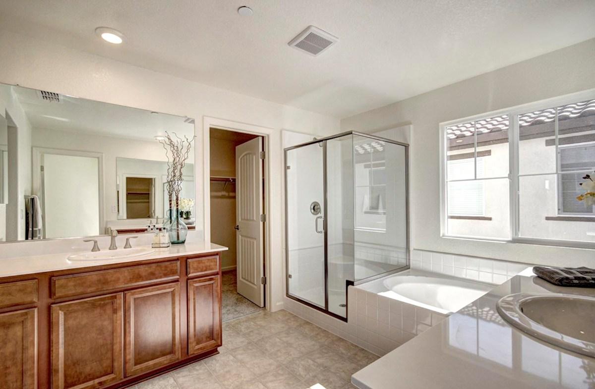Natomas Field Residence 3 Rancho Cordova, CA new homes Bungalows upsptairs master bath