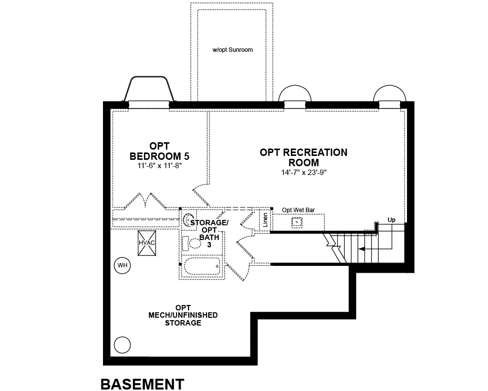 Optional Basement floor plan