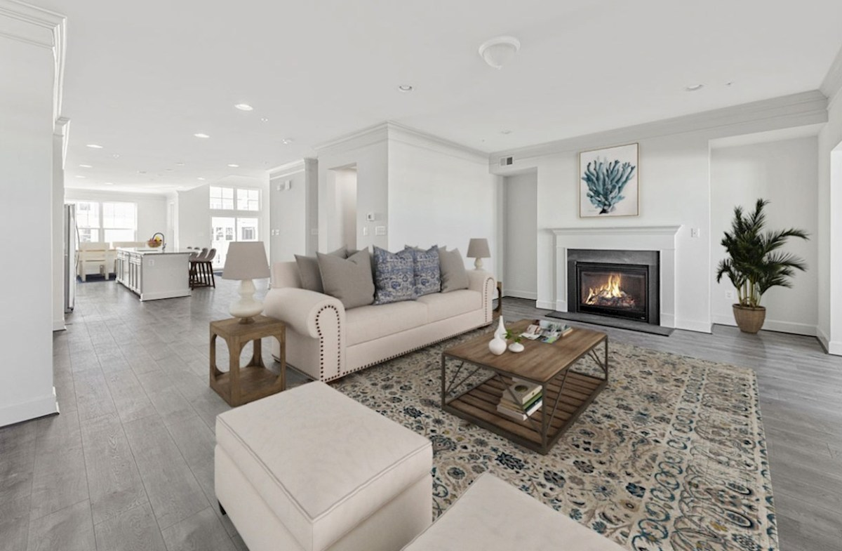 Fenwick quick move-in Fenwick family room featuring a fireplace