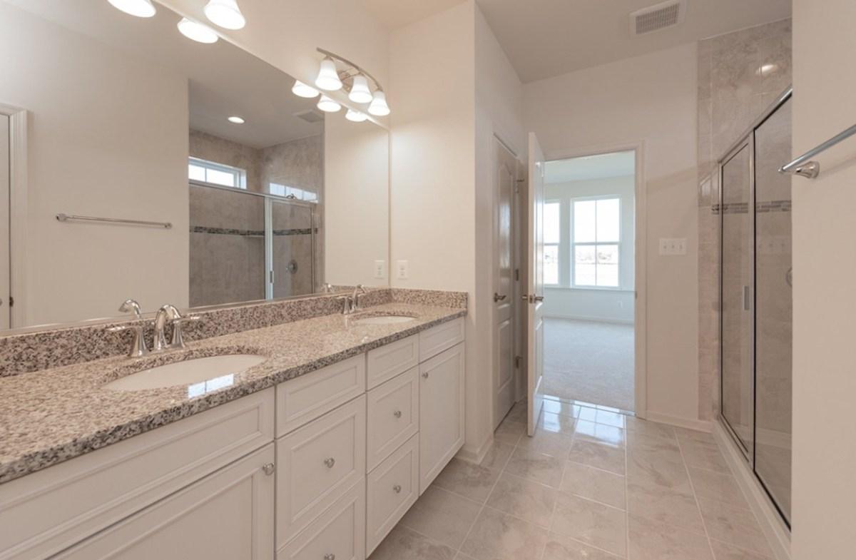 Darley quick move-in Darley master bathroom featuring dual vanities