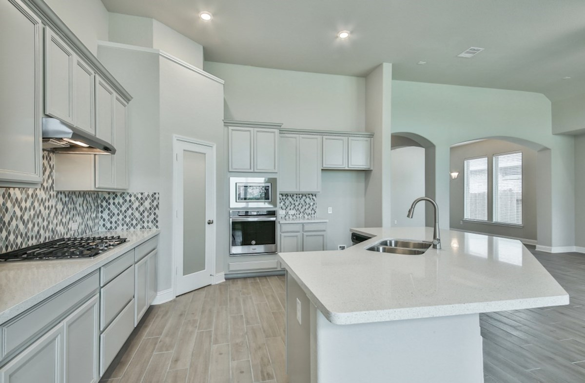 Bandera quick move-in kitchen with stainless steel built-in appliances