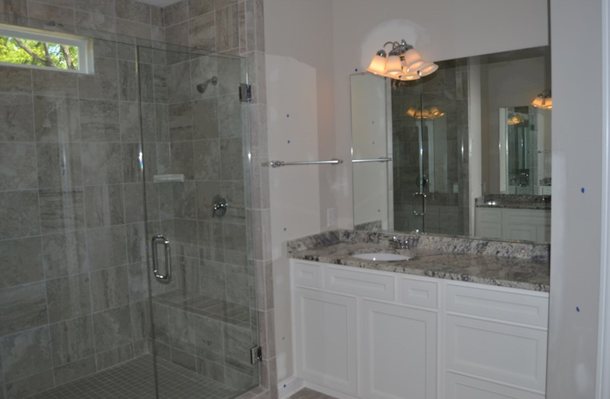 Charleston quick move-in Spa shower with bench in master bath