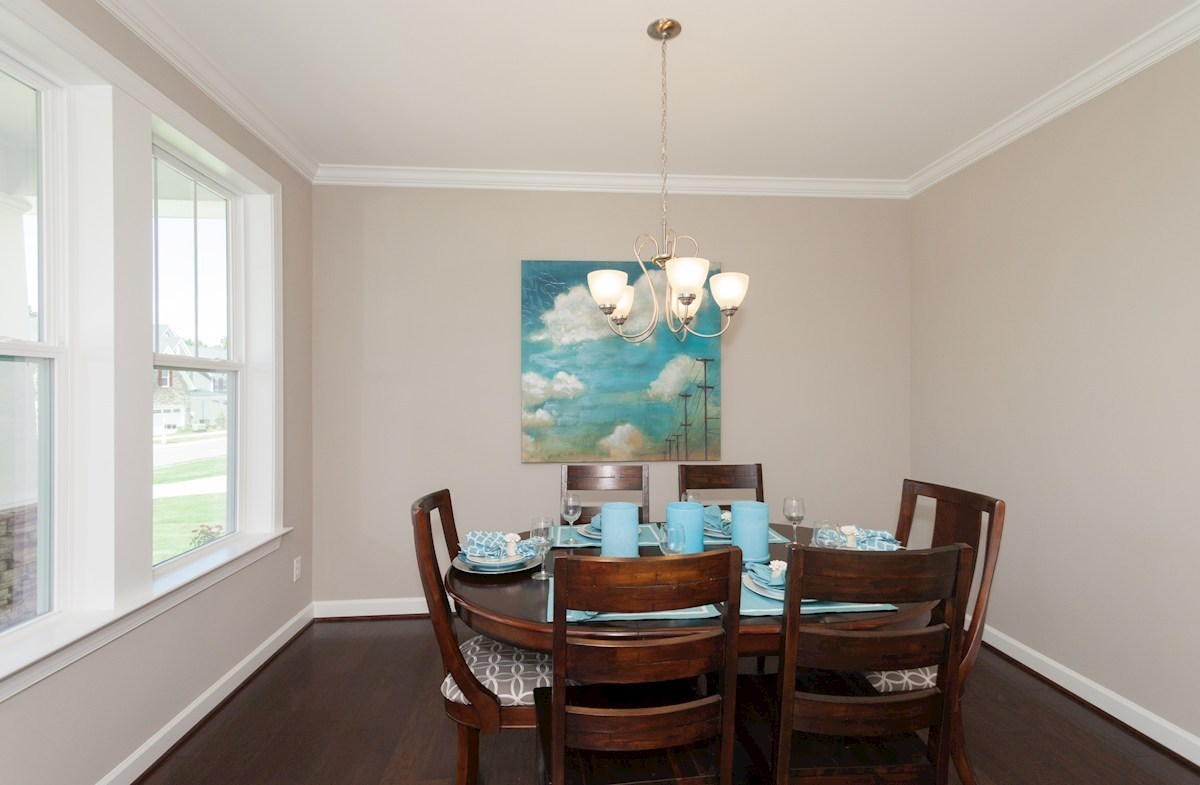 Spring Creek Concord formal dining room with double windows