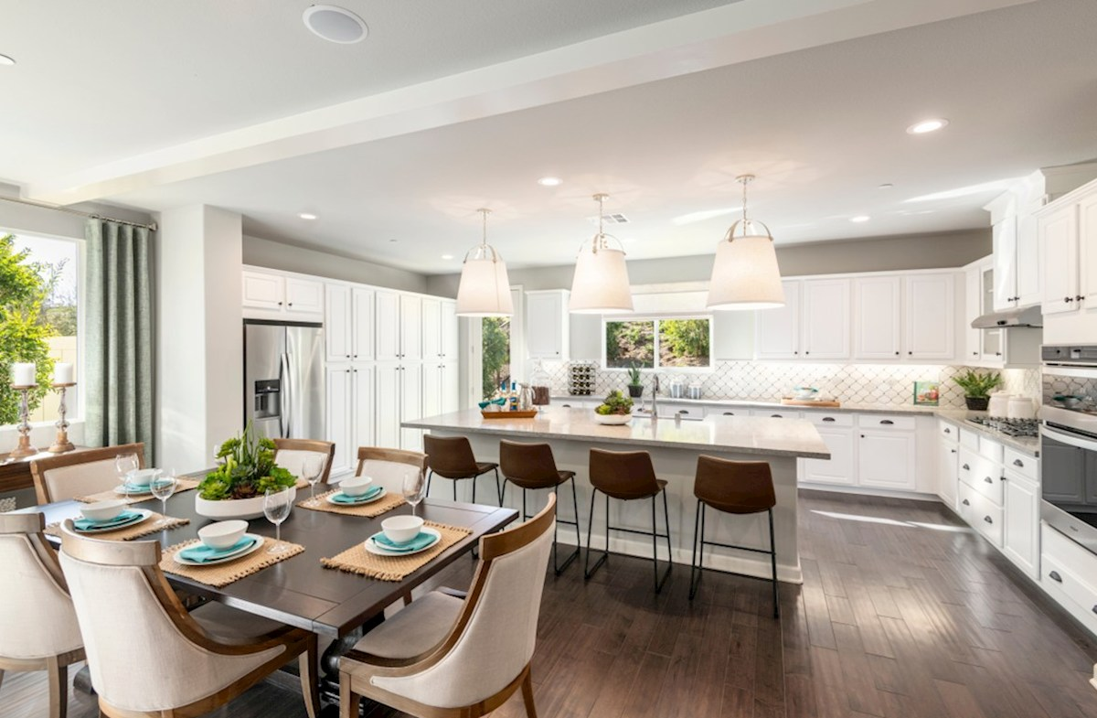 Aurora Heights Honeysuckle Entertain guests while preparing gourmet meals in this open-concept kitchen and great room