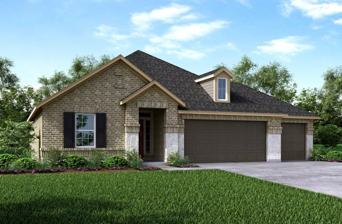 Madison Home Plan In Wildwood At Oakcrest, Cypress, TX
