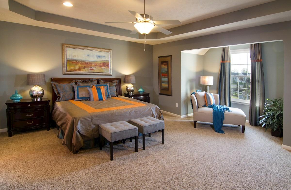 Shadow Creek Farms Juniper master bedroom with trey ceiling