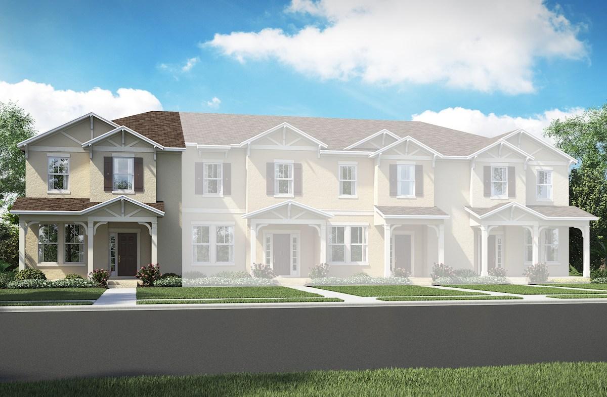 Richmond End Home Plan in Summerlake Townhomes, Winter Garden, FL ...