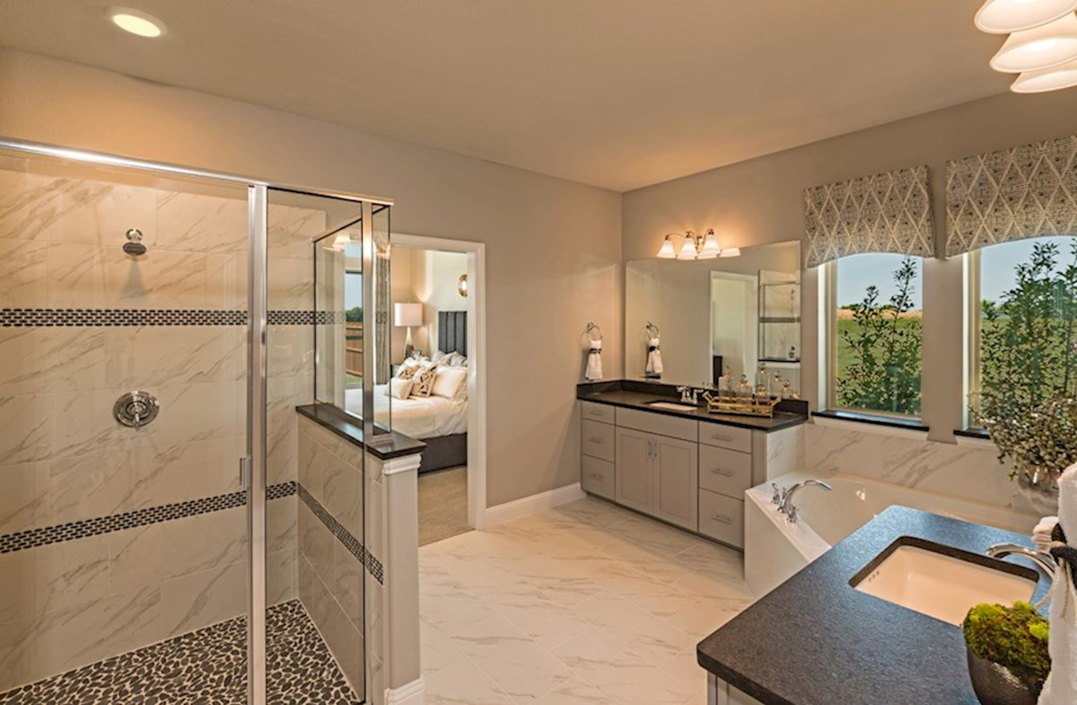 Miramonte Albany Albany master bathroom with walk-in shower