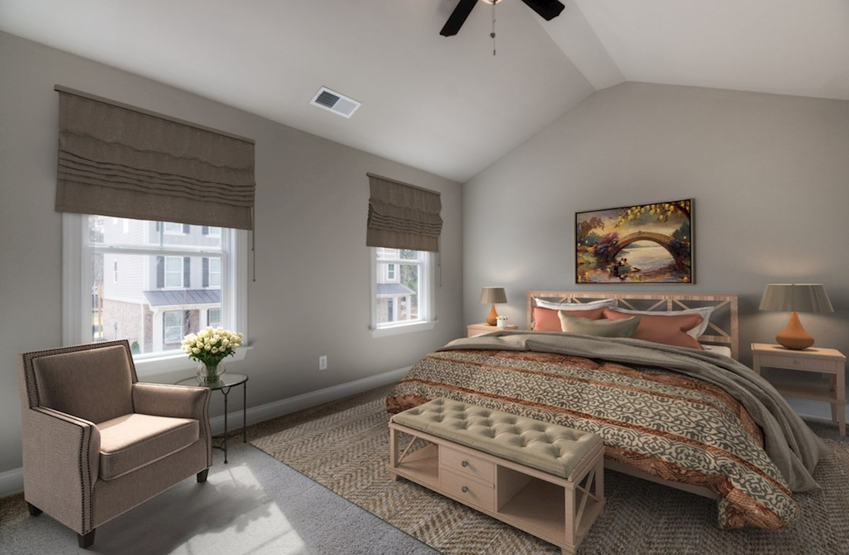 Highland Park Norwich Master Bedroom with ceiling fan