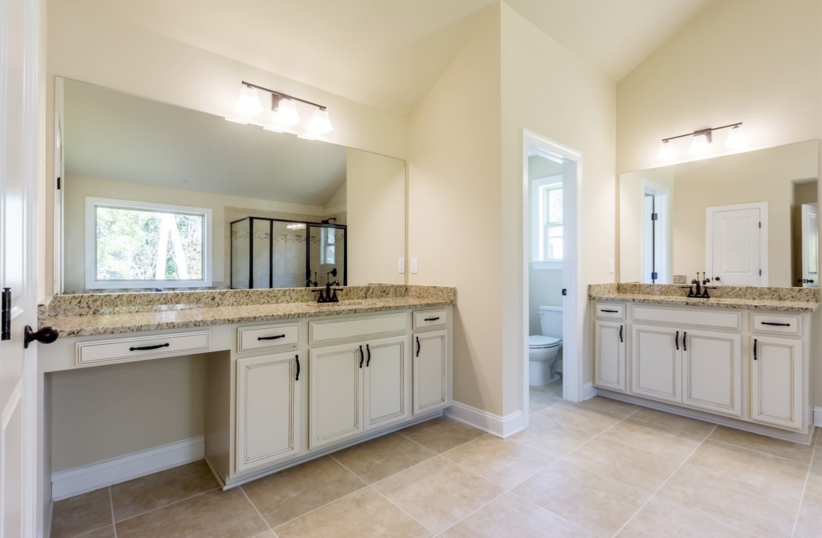 Stockton quick move-in Master Bath with dual sinks