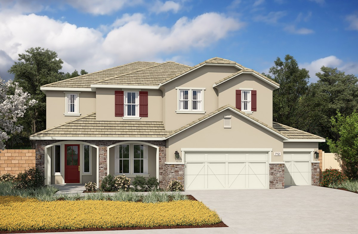 Two-story home with 3-car garage