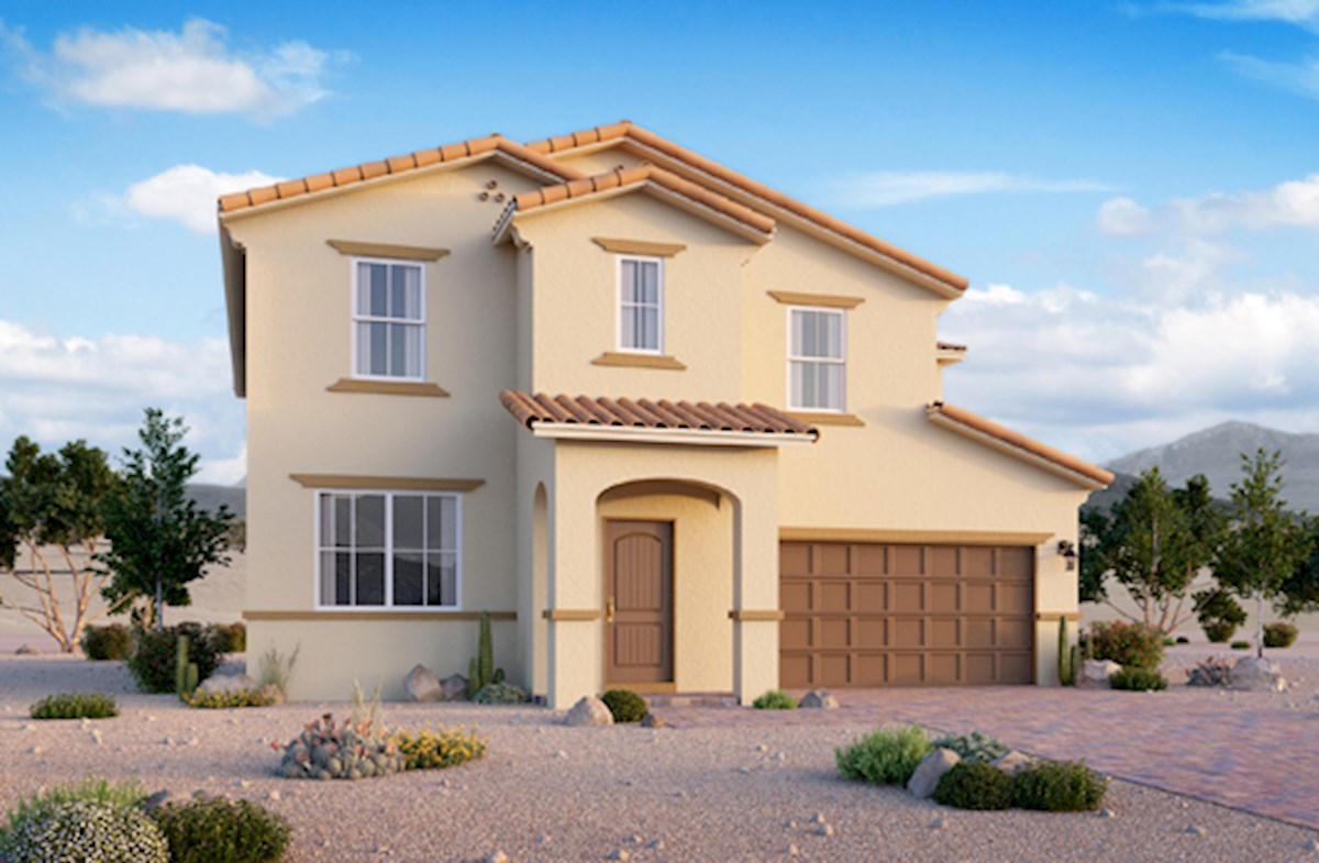 Spanish Colonial exterior on the Verano plan