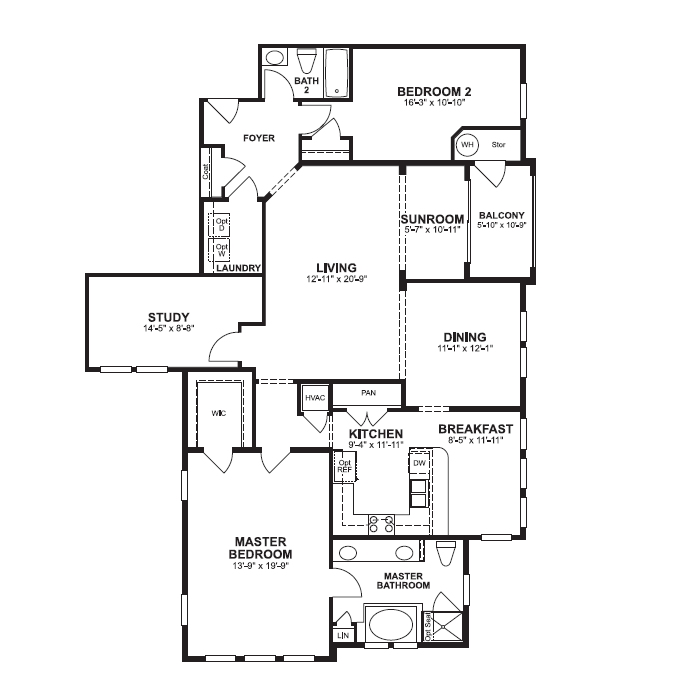 Floorplan of Dogwood