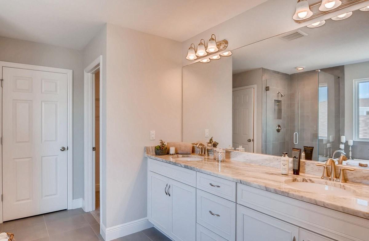 Reserve at Citrus Park Sand Dollar Master bathroom with dual sink vanity