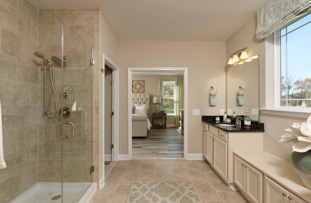 Bishop's Landing Dirickson spa-inspired master bathroom