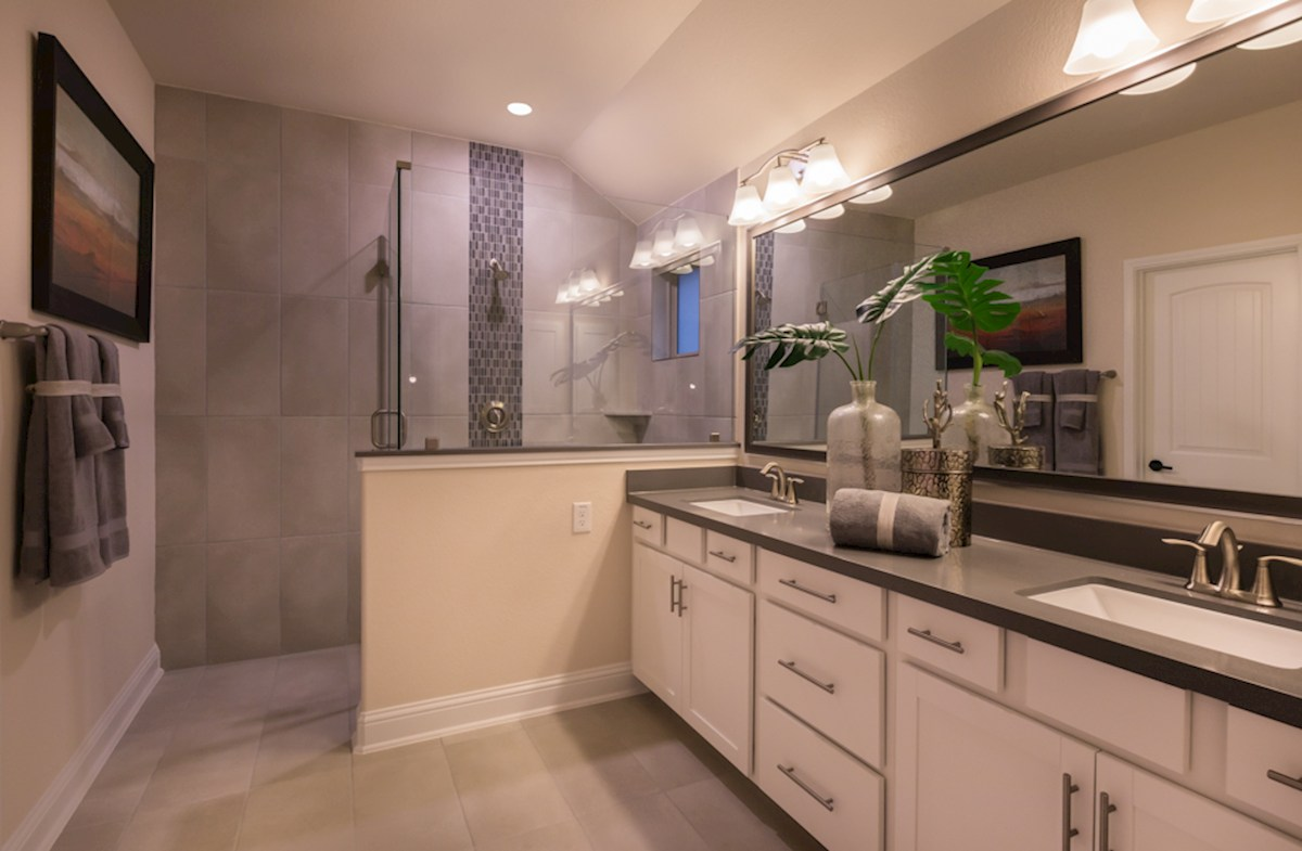 The Woodlands Townhomes Sycamore luxurious master bathroom