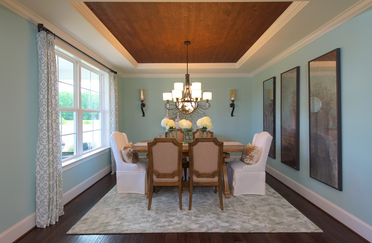 naturally lit dining room