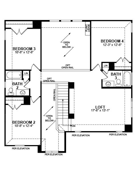 Aberdeen Home Plan in Prestwyck, McKinney, TX | Beazer Homes ...