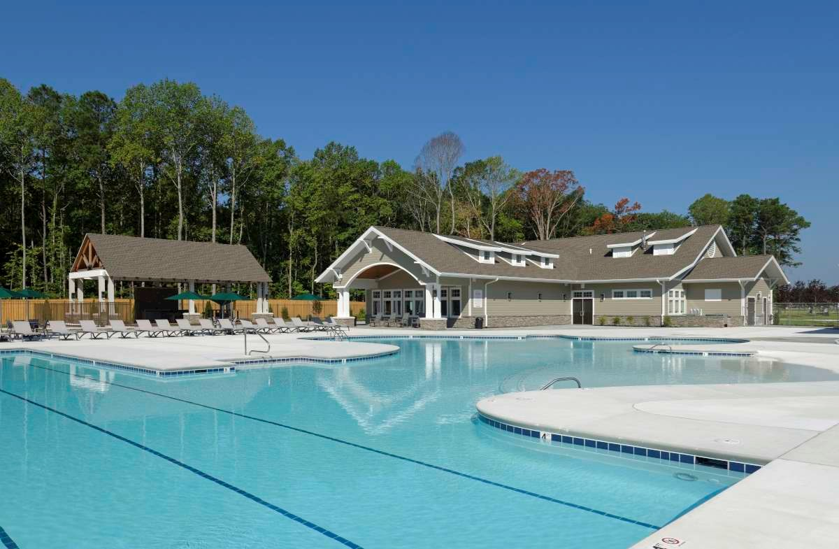 Community pool and clubhouse