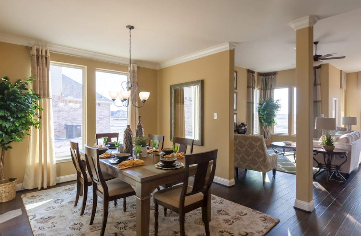 spacious Galveston formal dining room